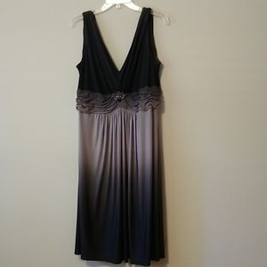 Ombre black and gray cocktail dress